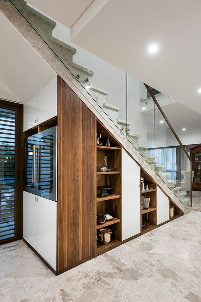Stairway storage understairs storage storage under stairs for Living room under stairs