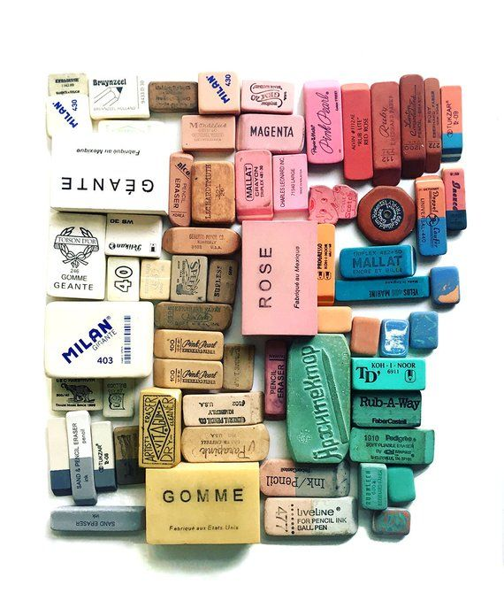 """Eraser Collection Number One"" an archival photographic print by Lisa Congdon. (sold unframed)8.5"