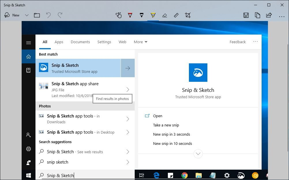 How To Use Windows 10 Snip Sketch To Take Screenshots October