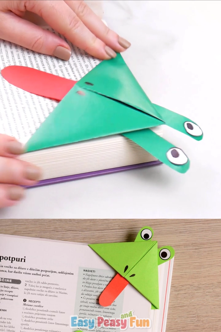 Photo of Frog Corner Bookmarks – origami for kids