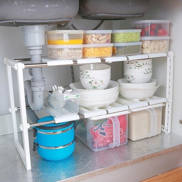 Kitchen Storage Rack Kitchen Under Sink Organizers Sink Storage Cabinet 2 Tier
