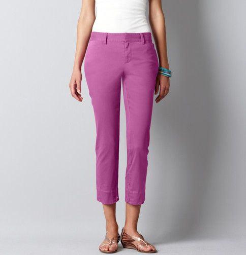 Loft - LOFT Pants - Julie Stretch Cotton Twill Ankle Zip Pants  These are great--and run pretty true to size!