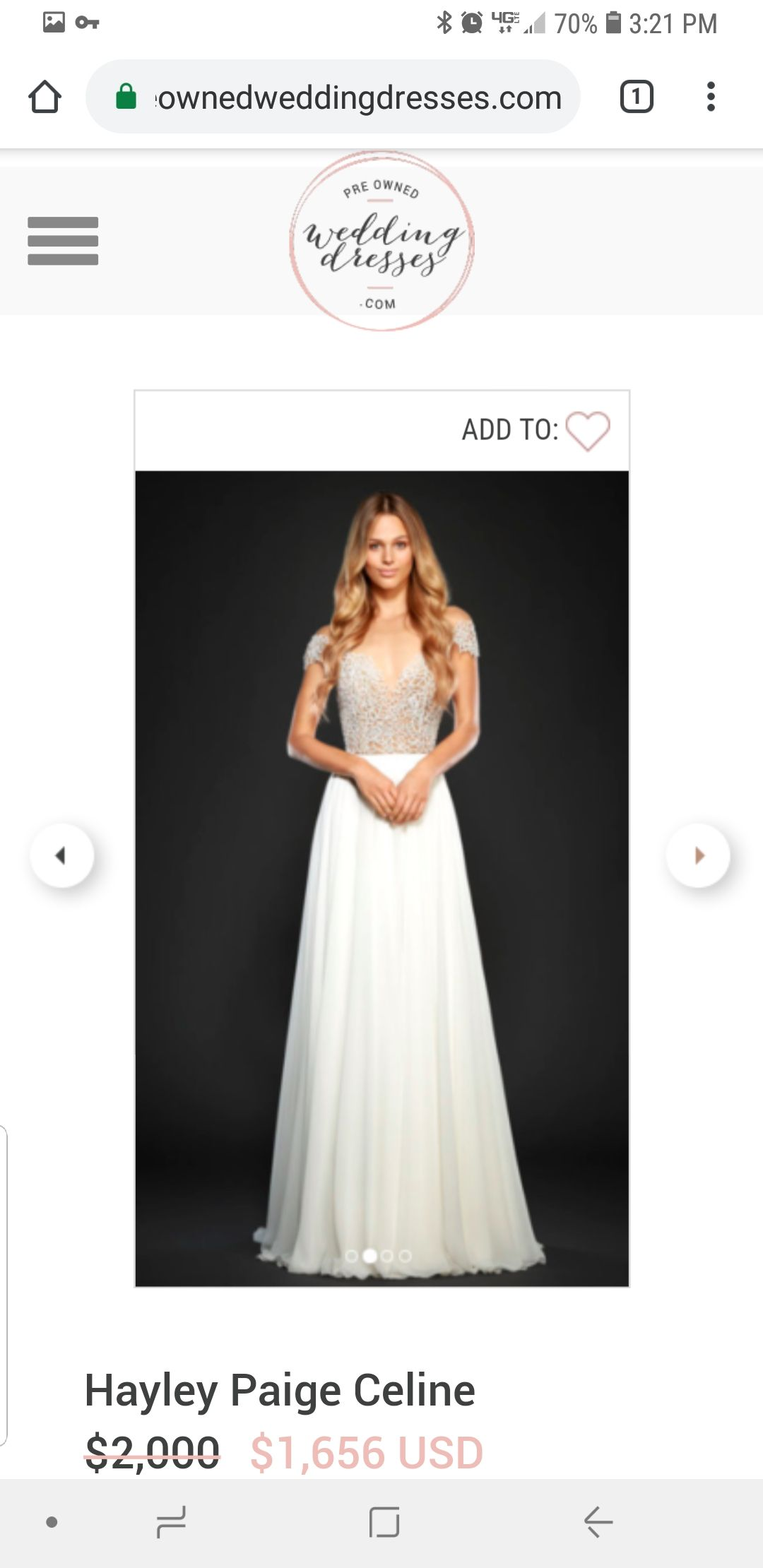 Previously owned wedding dresses  Trying to find a cheaper version of this dress wedding dress