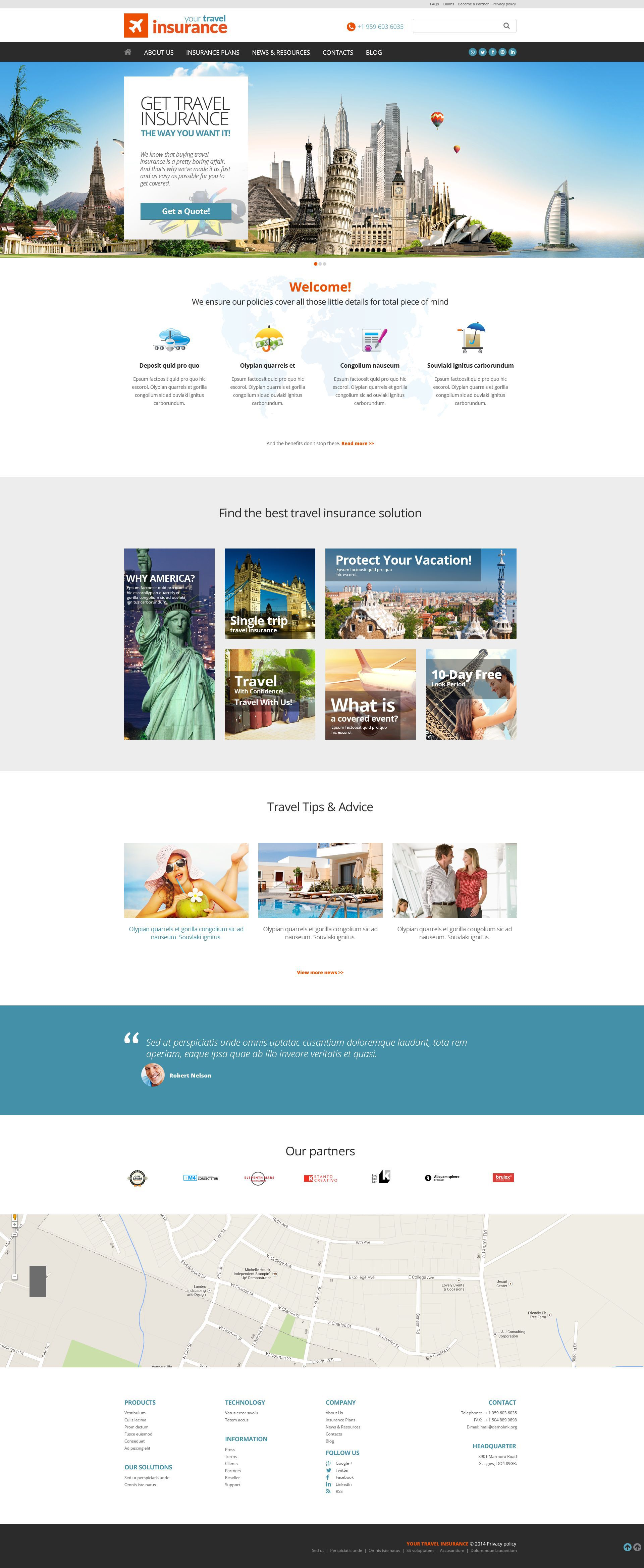 Insurance Responsive Website Template 51961 With Images