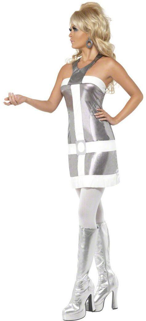 Sexy 1960s Silver Space Retro Robot Costume Space Costumes - Mr. Costumes  sc 1 st  Pinterest & Sexy 1960s Silver Space Retro Robot Costume Space Costumes - Mr ...