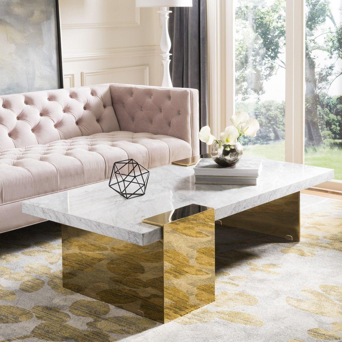 Sfv3541a 2bx Safavieh Solid Coffee Table Marble Coffee Table Coffee Table White [ 1200 x 1200 Pixel ]