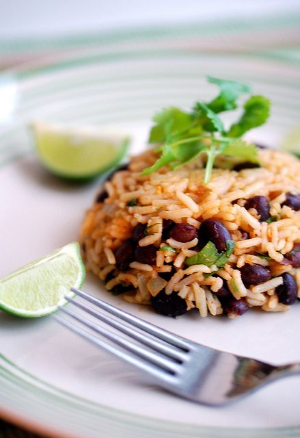 Costa Rican black beans and rice