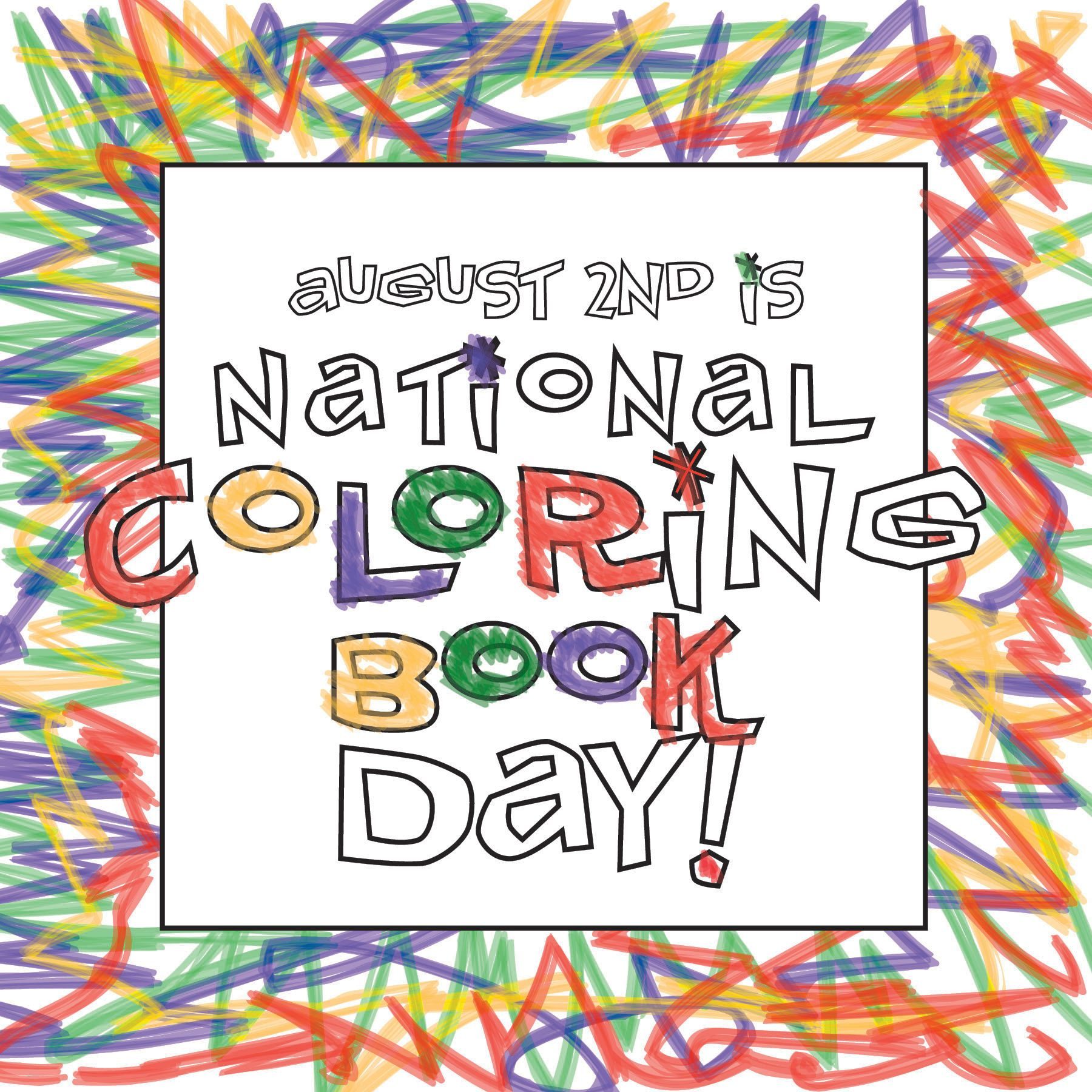 August 2nd Is National Coloring Book Day Retro Design Retro Love Design