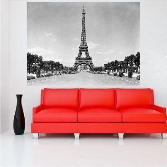 Eiffel Tower Decal Eiffel Tower Wall Mural Eifferl by PrimeDecal