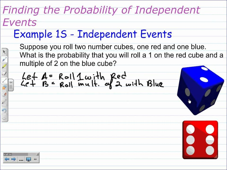 Probabilities of Compound Events Independent Events – Compound Events Probability Worksheet