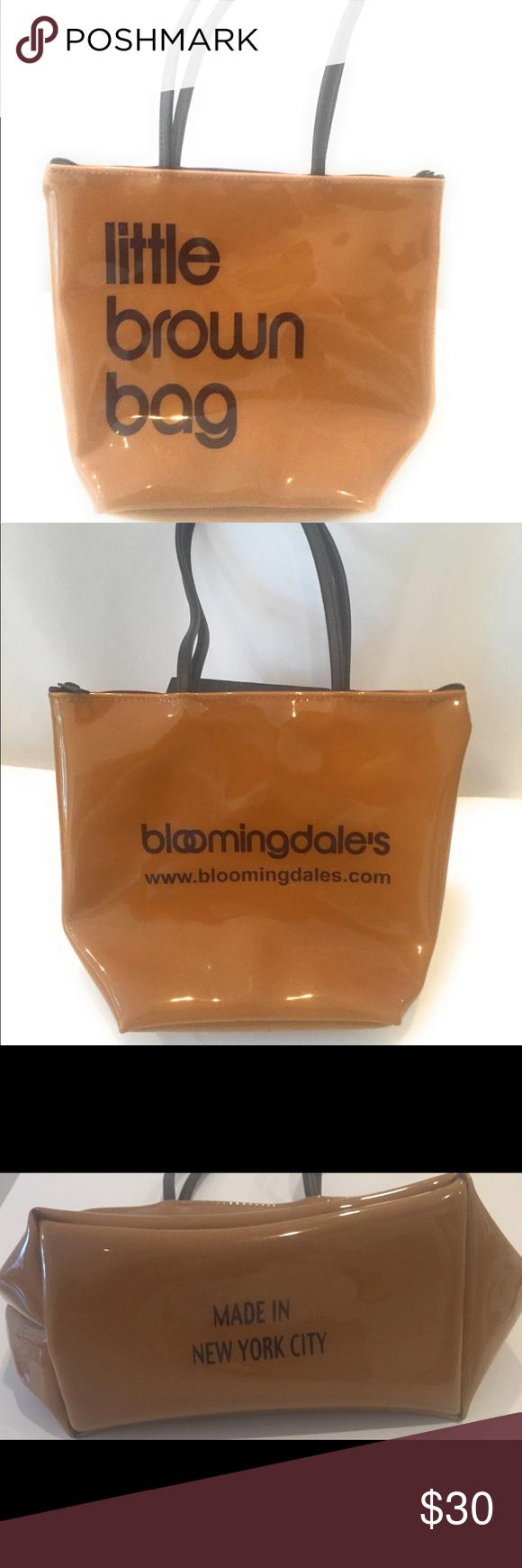 95890406ee Bloomingdales little brown bag with zipper RARE Bloomingdales little brown  bag with zipper RARE Bloomingdale's Bags Totes