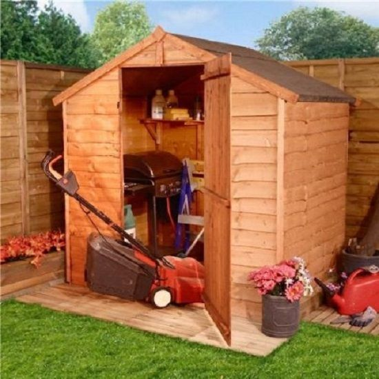 4x6 Wooden Garden Windowless Sheds Outdoor Storage Kit Backyard Shed Structures