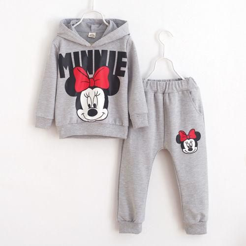 Newborn Kid Baby Girl Clothes Hooded Tops Flowers Pants Outfits Tracksuit 1-4 Y