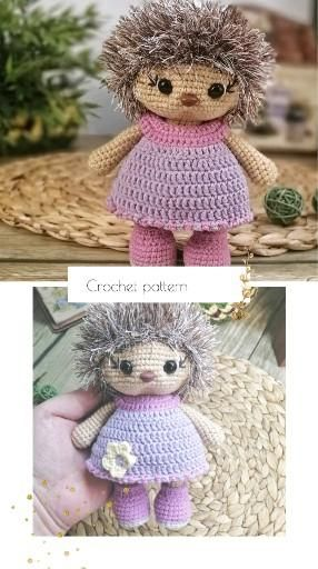 Crochet Hedgehog, Toy amigurumi pattern, crochet h
