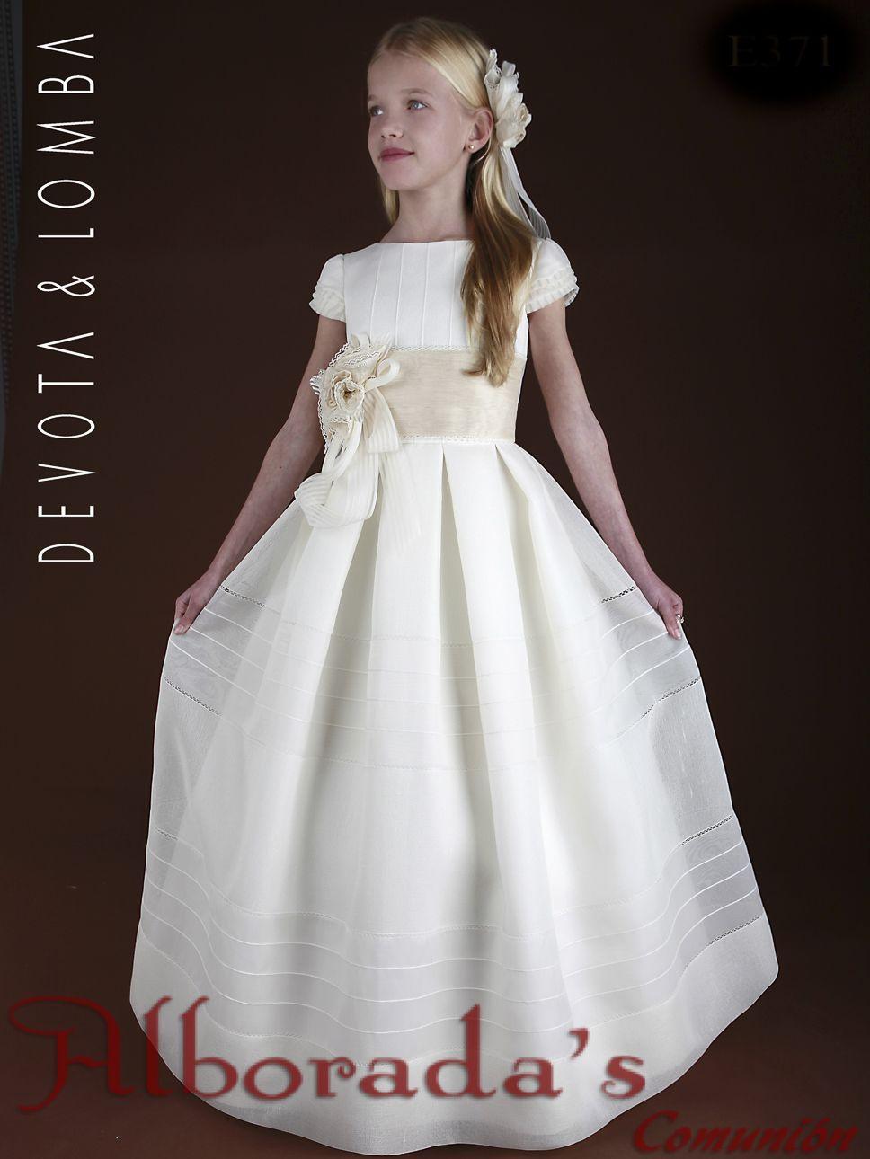 Colección Devota Y Lomba 2015 Alborada S Vestidos De Comunion Y Flamenca Vestidos De Comunión Vestido Floral Para Chicas Vestidos