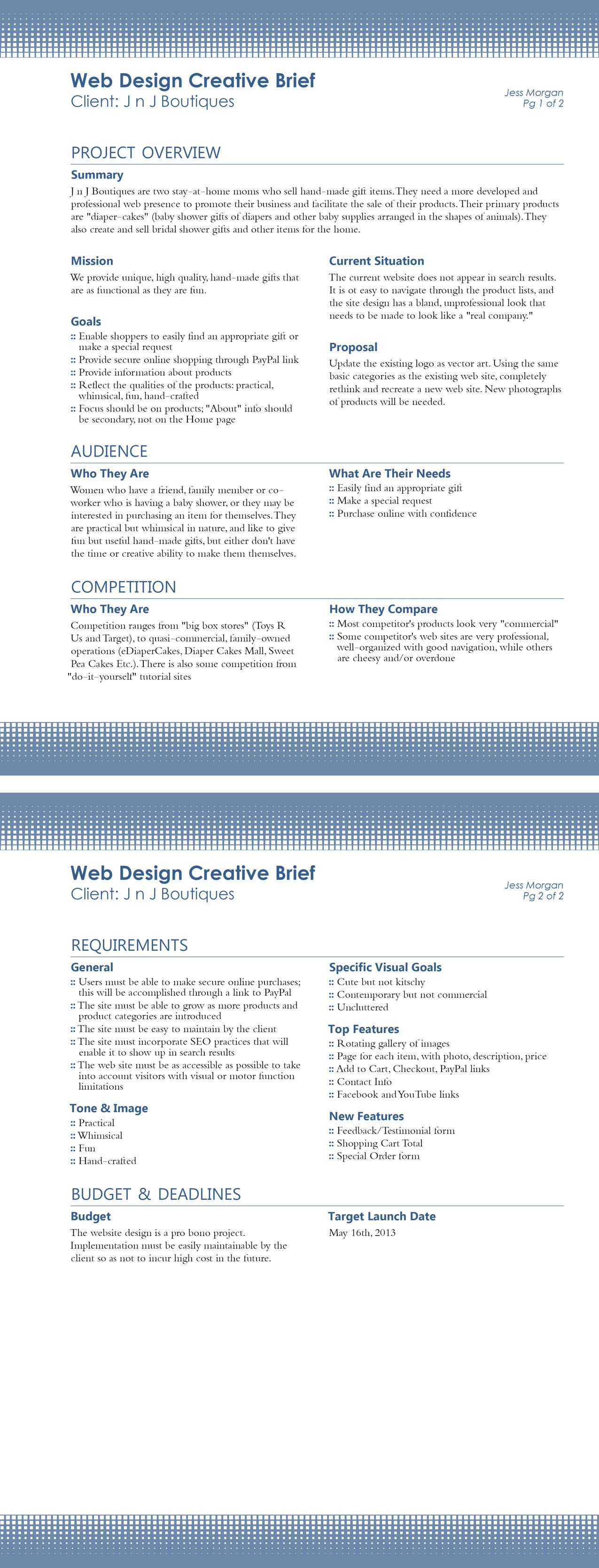 Creative Brief Design  Best Design On The Web