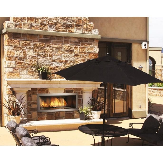 Firegear Od42 42 Inch Natural Gas Outdoor Fireplace Insert