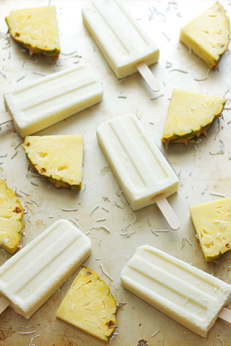 These refreshing coconut pineapple yogurt pops, are summer on a stick.