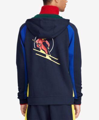 9e9d3b774 Polo Ralph Lauren Men s Downhill Skier Double-Knit Hoodie - Black XS ...