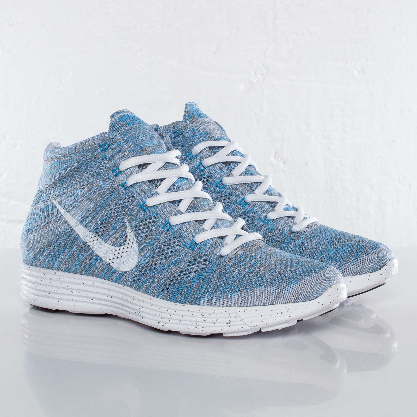 the latest 53216 aec27  Sneakers   Nike Flyknit Chukka White Light Blue -  Nike  Flyknit  Chukka