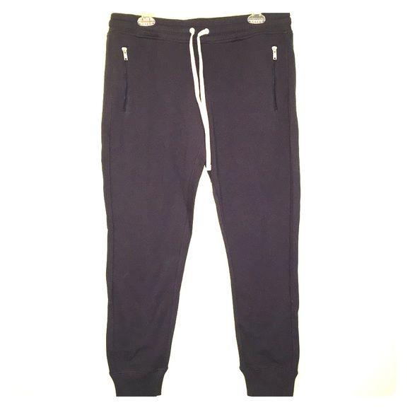 NWT Sperry sweatpants navy blue Front zippered pockets, drawstring, wide waistband, never worn!  12, may keep for myself if they don't sell soon!!! Sperry Top-Sider Pants Track Pants & Joggers