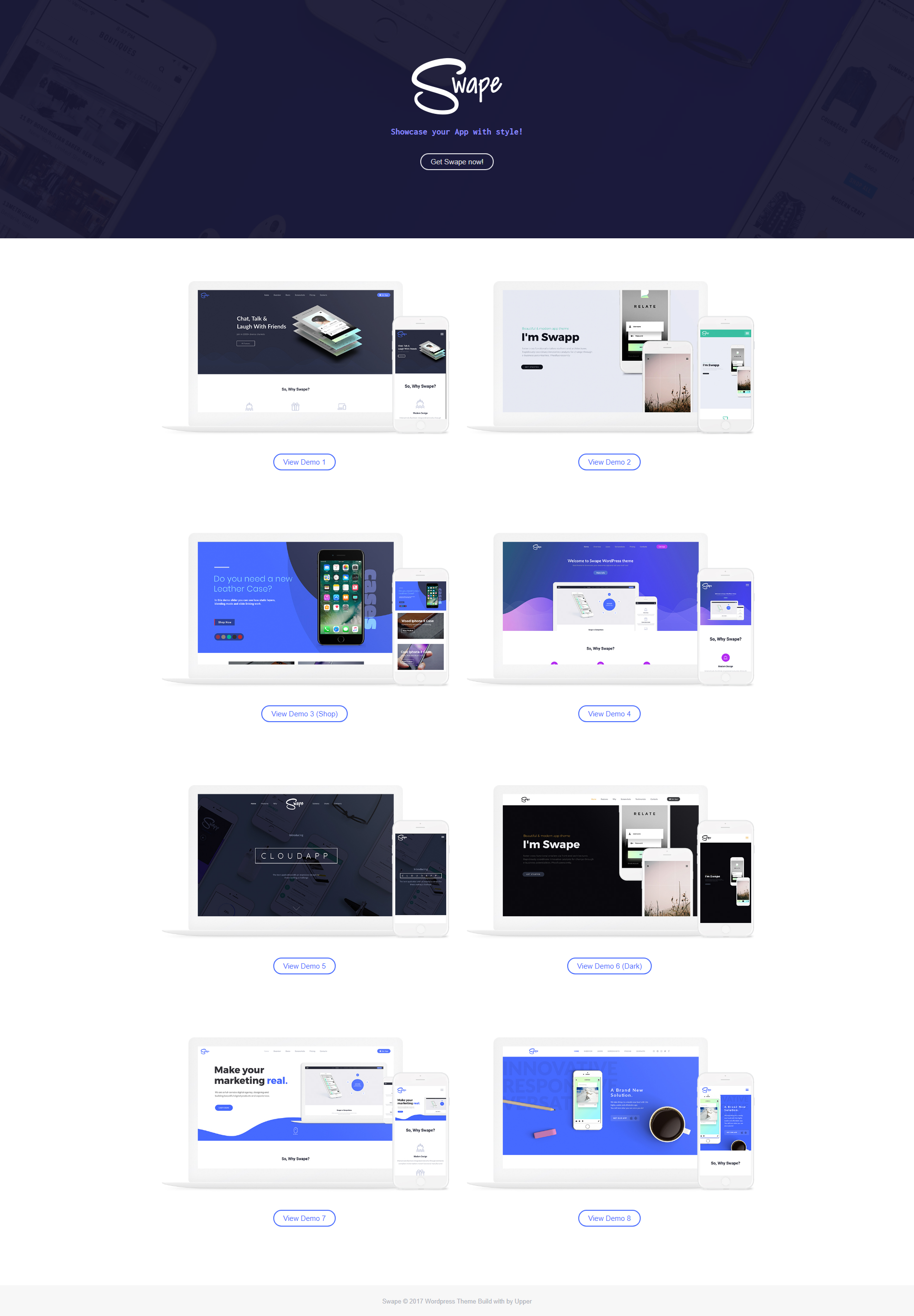 Swape App Showcase & App Store WordPress Theme App