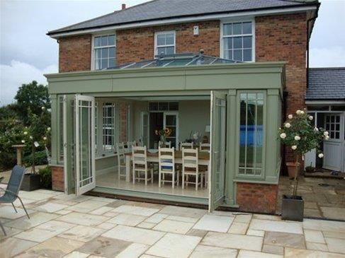 bifold doors with a semi-circular step down | Ideas for extension ...