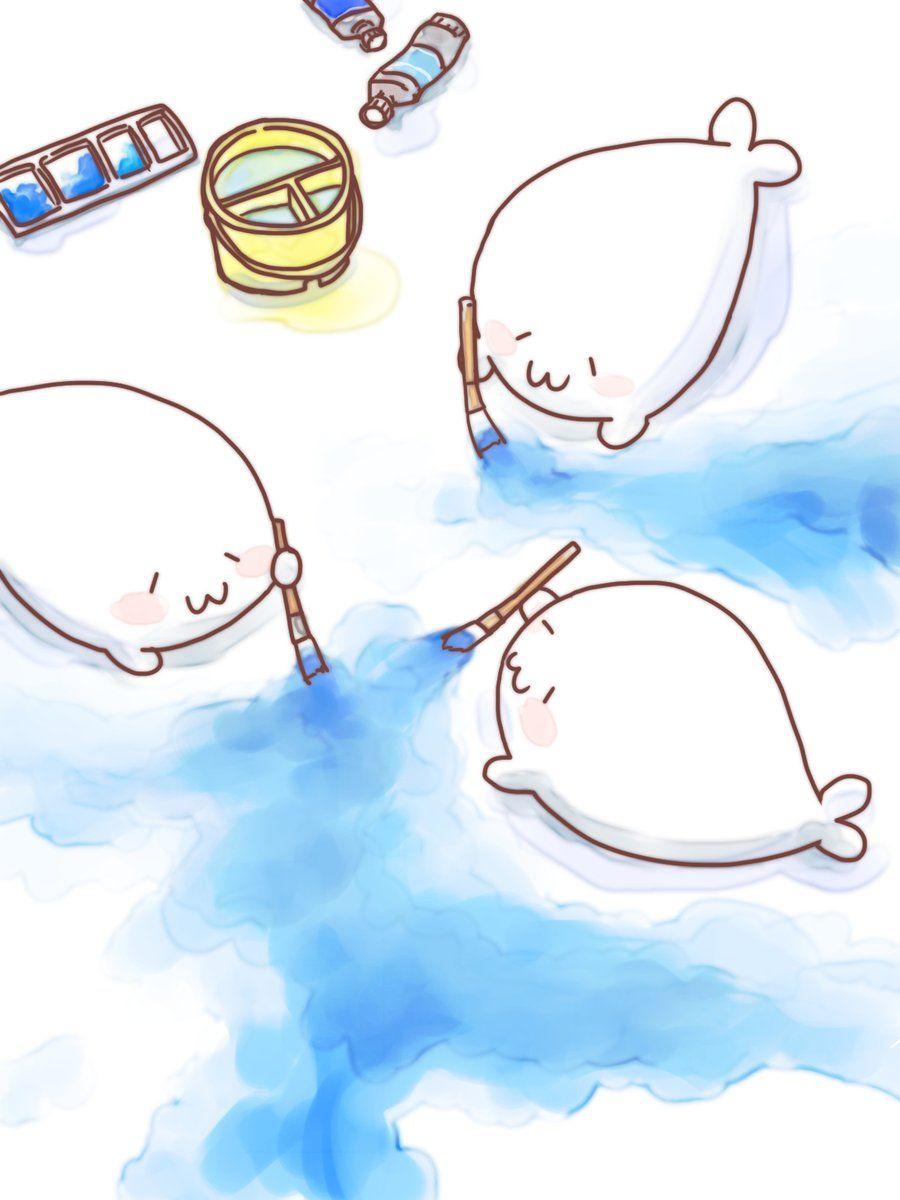 グレー At あざらしさん On In 2019 Just Cute アザラシ イラスト