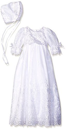 a696ba8ce4 Great for Embroidered Organza Christening Baptism Special Occasion Gown  with Matching Hat.   54.97 - 61.99  yourfavoriteclothing from top store