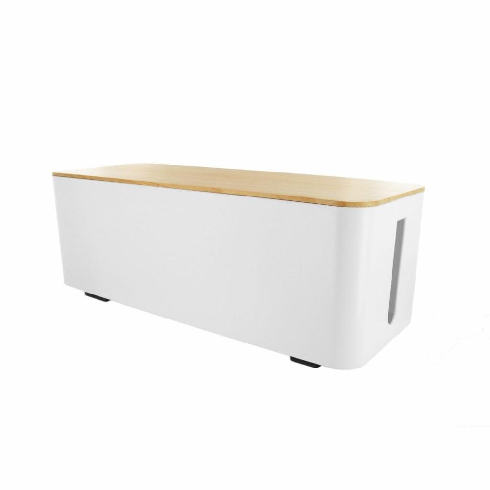 Boite Cache Prise Electrique meubles ~ boite range cables sans fil blanc leroy merlin