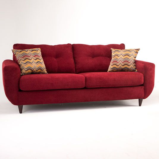 Natalie Living Room Collection Red Sofa In Red Jerome S Furniture