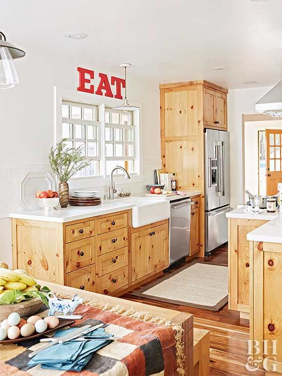 Making Over a Dated Home in 2020 | Knotty pine kitchen ...