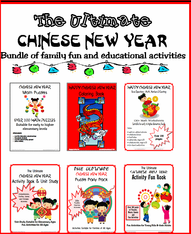 chinese new year mega bundle bundle 500 pages of printable chinese new year games printable puzzles worksheets crafts and activities