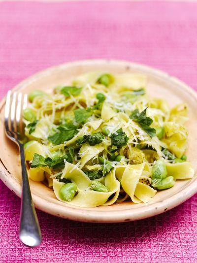 Pappardelle With Peas Broad Beans Amp Pecorino Recipe