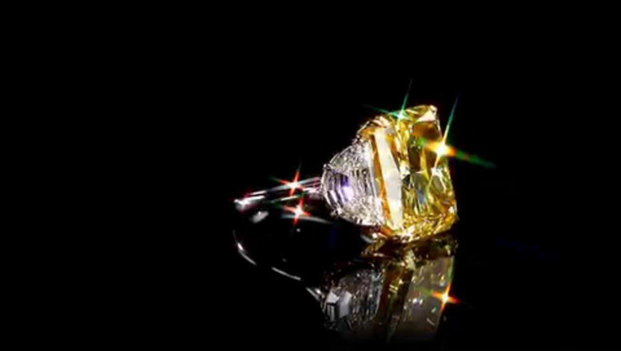 Yellow diamond ring diamond fancy and ring