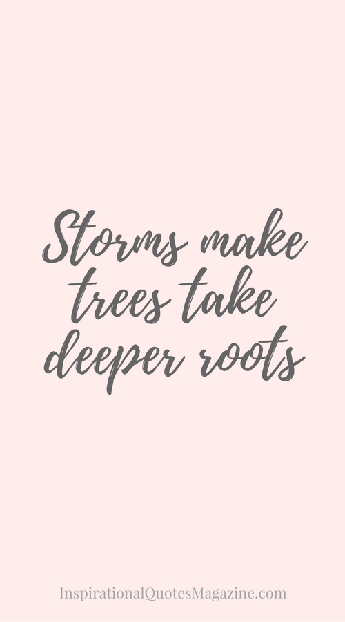 Strength Quotes Inspiration Storms Make Trees Take Deeper Roots  Pinterest  Strength