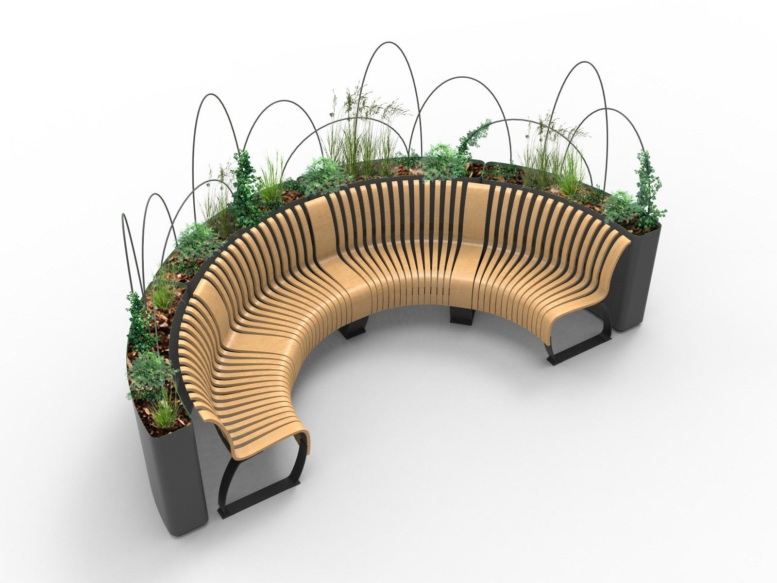 Metal Planter Divider Radius Planter Divider By Green Furniture Concept Urban Furniture Design Green Furniture Furniture Design Modern