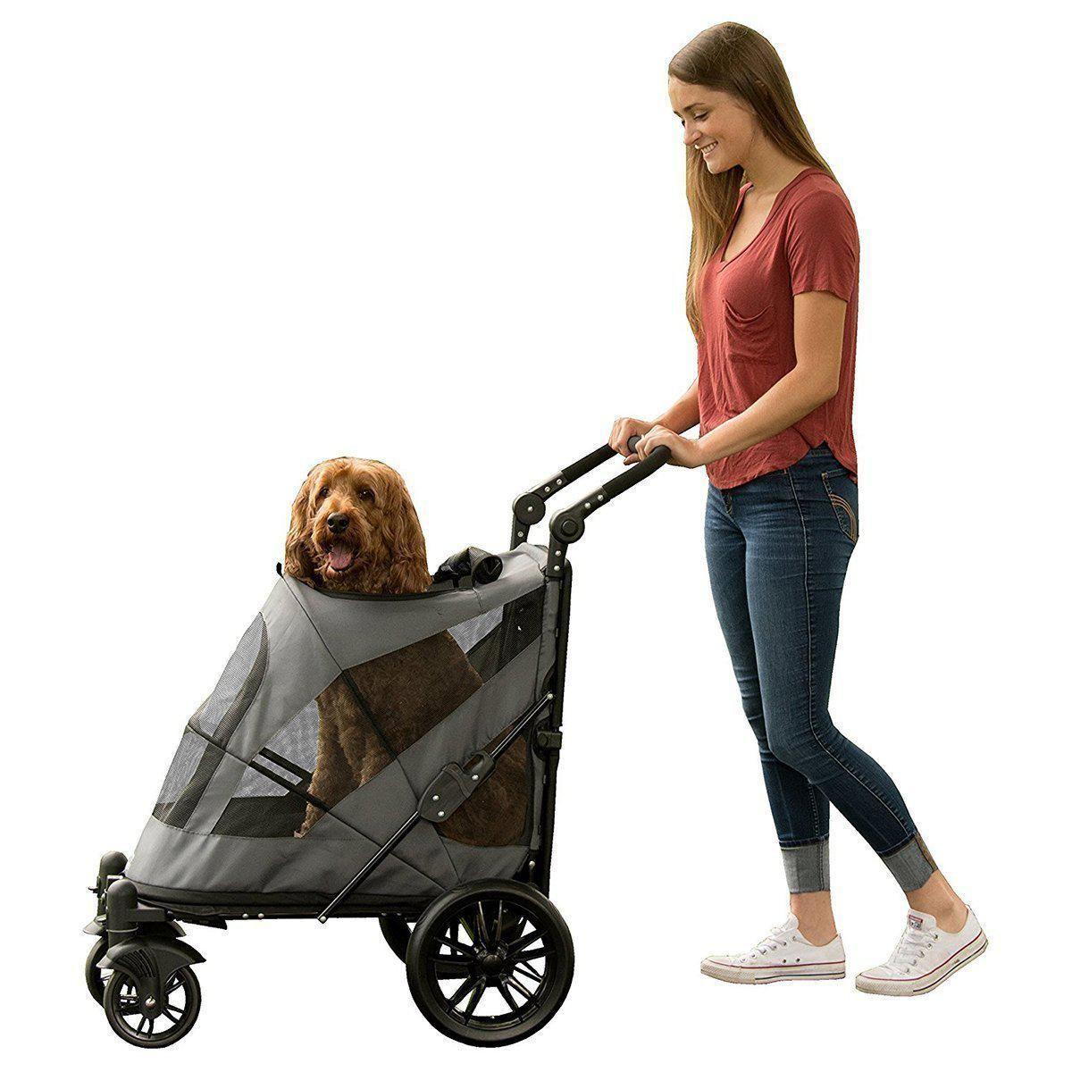 NoZip Excursion Dog Stroller Dark Platinum Pet stroller