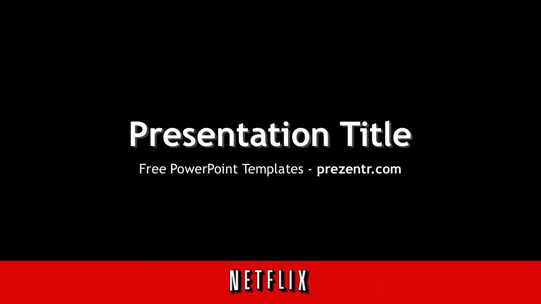 netflix powerpoint template | powerpoint templates | pinterest, Modern powerpoint