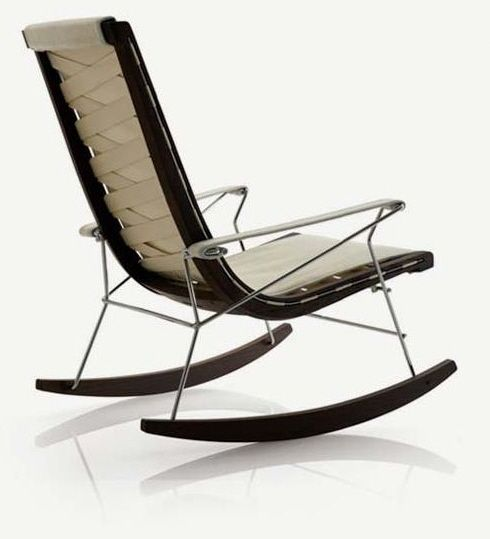 Luis JJ Rocking Armchair In This Outrageous Rocking Chair The Elements Of  Shag Rug, Metal Arms And Wooden Rocking Sleds Have Been Combined.