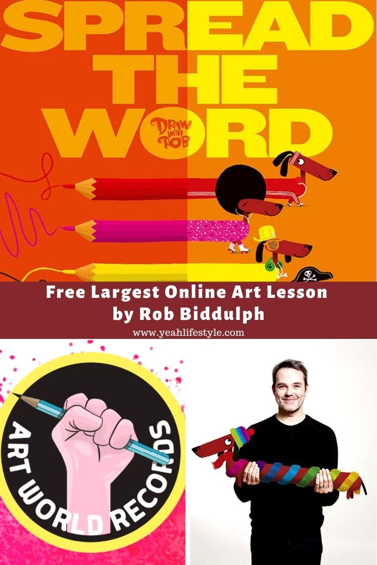 Free Largest Online Art Lesson by Rob Biddulph