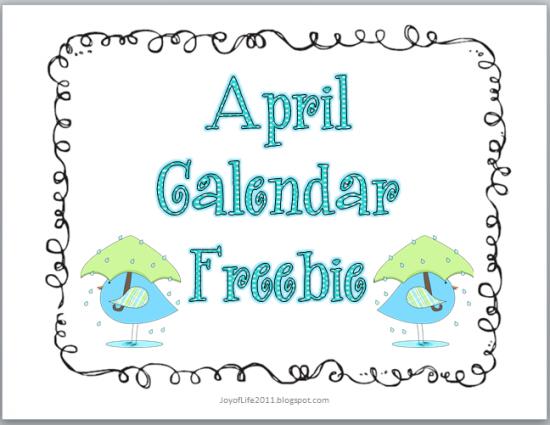 April Calendar Pieces : Calendar numbers free printable april theme lcn