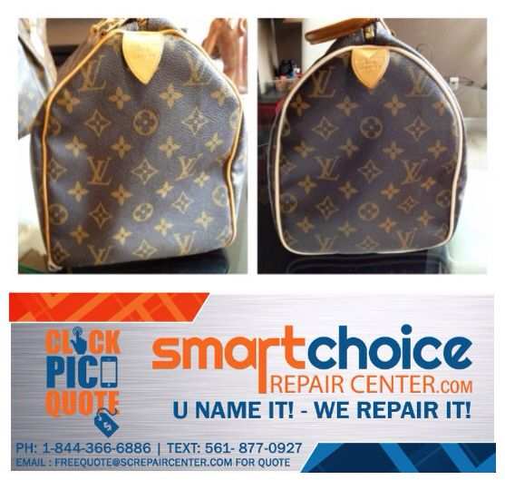 We Repaired The Piping Around Edges Of Louis Vuitton Bag Snap A Picture With Your Smartphone And Text It To Us For Free Estimate 561 877 0927