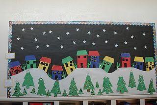 Winter Scene Bulletin Board Christmas Boards