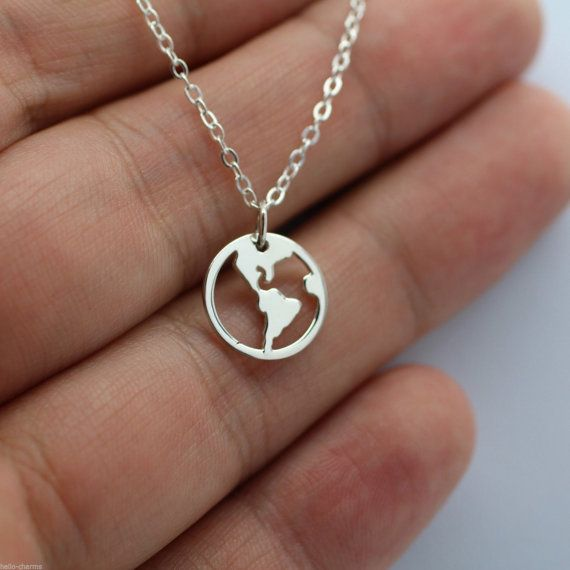 Whole world necklace 925 sterling silver planet charm world peace whole world necklace 925 sterling silver planet charm world peace pendant new aloadofball Image collections