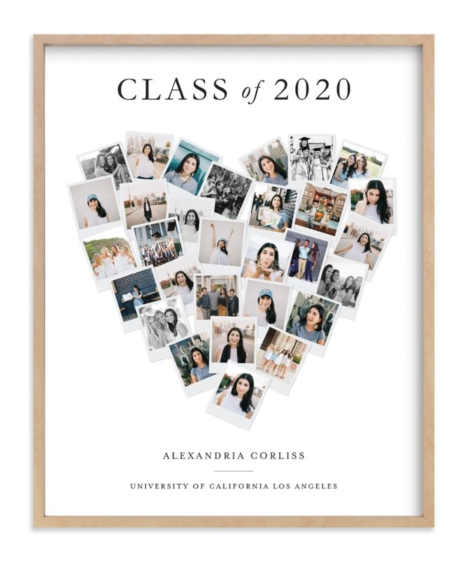 Modern, Colorful, White Custom Photo Art From Minted By Independent Artist Minted Called Grad Heart Snapshot Mix® Photo Art With Printing On In White GCP.
