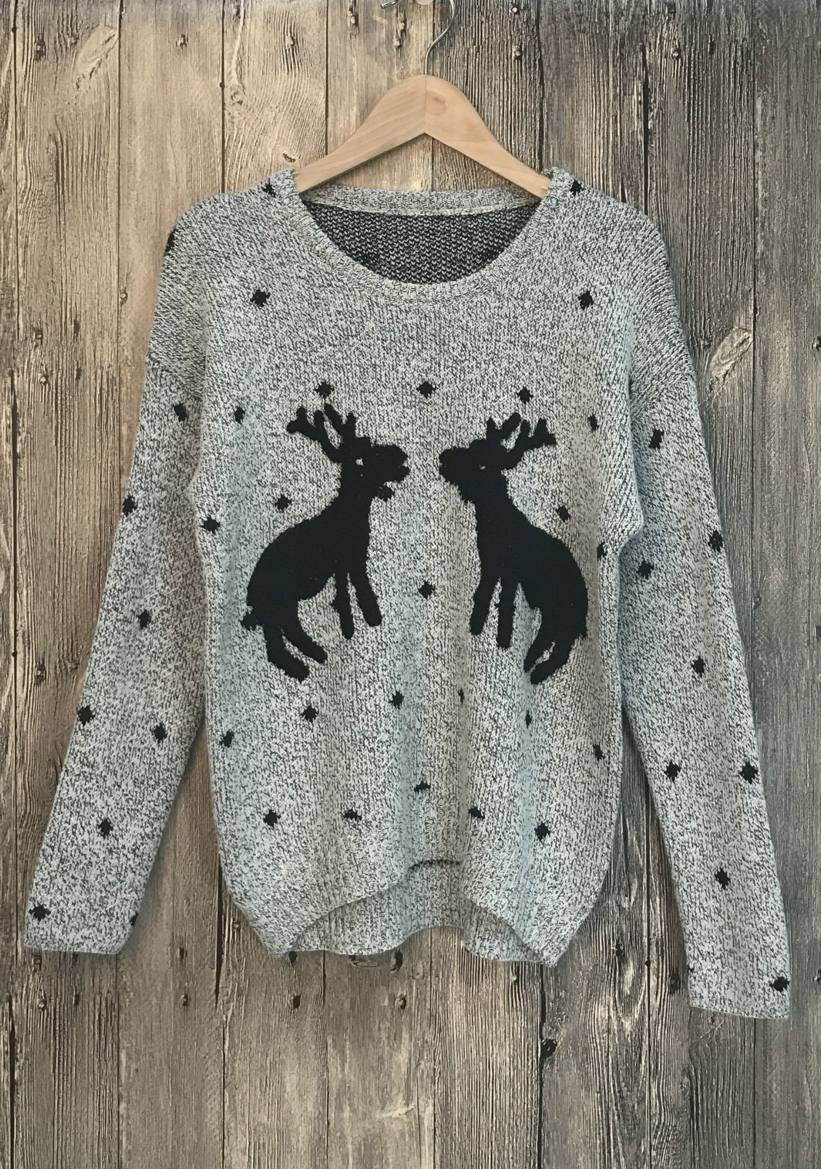 Chiristmas Deer Pattern Pullover Knitted Sweater