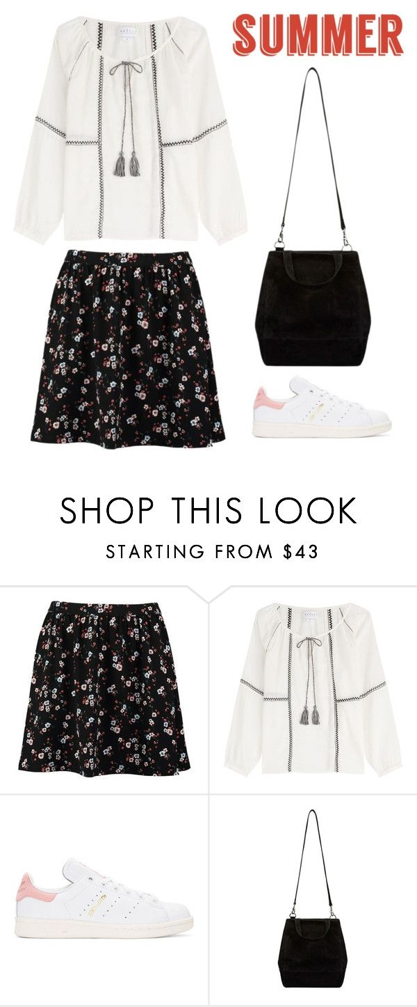 """Untitled #113"" by mery9999999 ❤ liked on Polyvore featuring TOM TAILOR, Velvet, adidas Originals and Floralskirts"