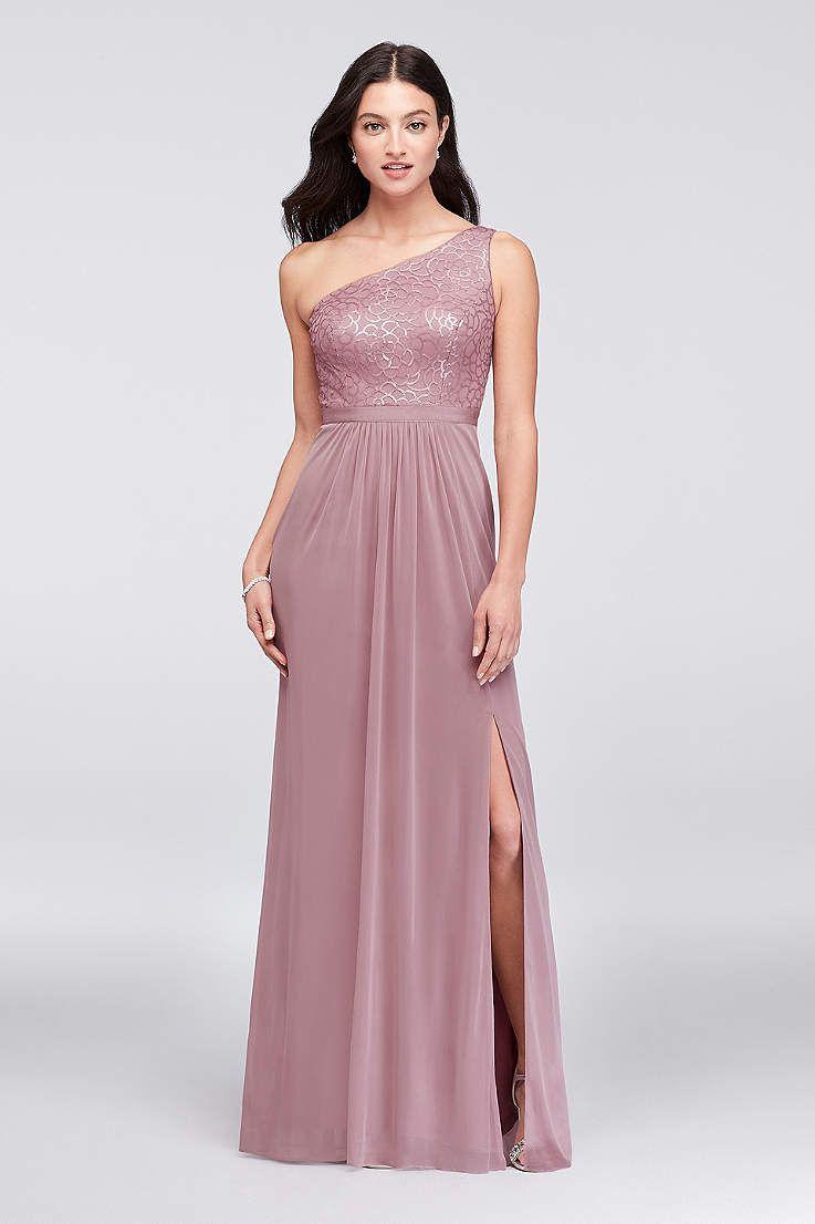 View One Shoulder Asymmetrical Bridesmaid Dress at David\'s Bridal ...