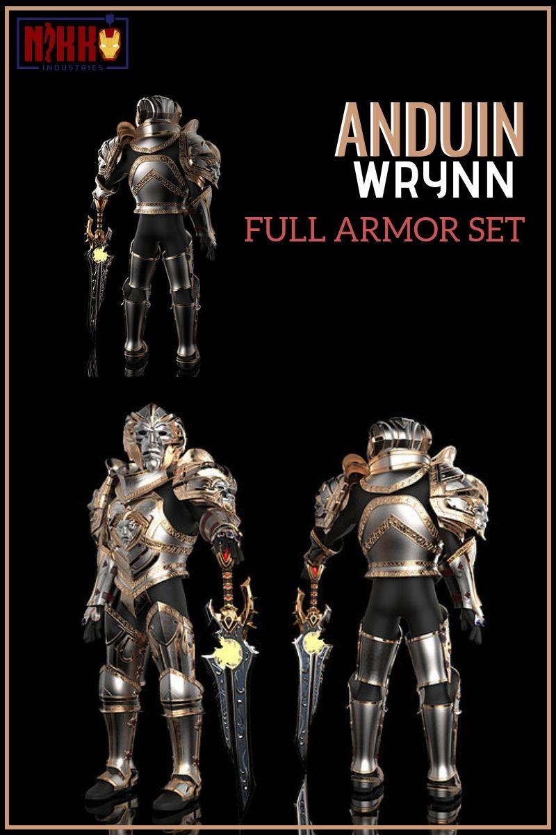 Anduin Wrynn Full Armor set in 2019 | 3d printed armor designs